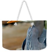 Painted Blue Heron Weekender Tote Bag