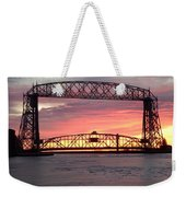 Painted Bridge Weekender Tote Bag