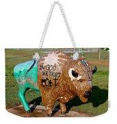 Painted Buffalo Weekender Tote Bag