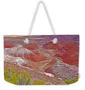 Painted Desert From Rim Trail In Petrified Forest National Park-arizona Weekender Tote Bag