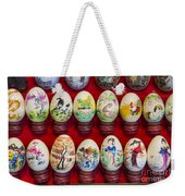Painted Eggs In China Market Weekender Tote Bag