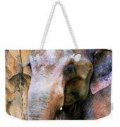 Painted Elephant Weekender Tote Bag