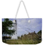 Painted Fort Gratiot Light House Weekender Tote Bag
