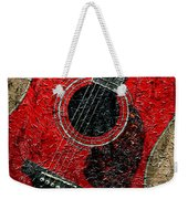 Painted Guitar - Music - Red Weekender Tote Bag
