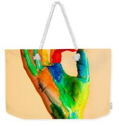 Painted Hand With Ok Sign Weekender Tote Bag