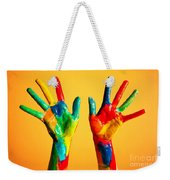 Painted Hands Weekender Tote Bag