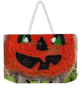 Painted Hay Bale Weekender Tote Bag