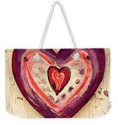 Painted Heart Weekender Tote Bag
