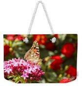 Painted Lady Butterfly Weekender Tote Bag by Eyal Bartov