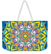 Painted Lotus Xv Weekender Tote Bag