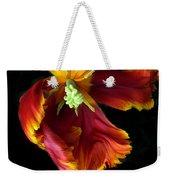 Painted Parrot Petals Weekender Tote Bag