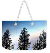 Painted Pine Tree Trio Weekender Tote Bag