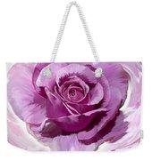 Painted Purple Rose  Weekender Tote Bag