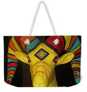 Painted Ram Weekender Tote Bag