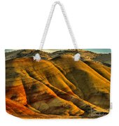 Painted Red And Gold Weekender Tote Bag