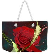 Painted Rose Weekender Tote Bag by M Montoya Alicea