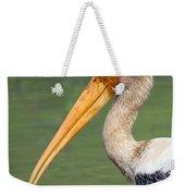 Painted Stork Mycteria Leucocephala Weekender Tote Bag