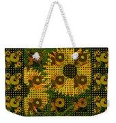 Painted Sunflower Abstract Weekender Tote Bag