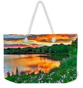 Painted Sunset Weekender Tote Bag