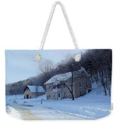 Painted Winter Weekender Tote Bag