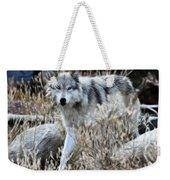 Painted Wolf Weekender Tote Bag