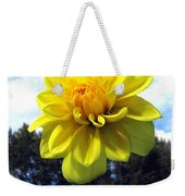 Painted Yellow Dahlia Weekender Tote Bag