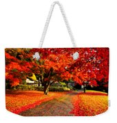 Painterly Autumn Path Weekender Tote Bag