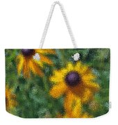 Painterly Flowers Weekender Tote Bag