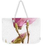 Painterly Pink Magnolia Weekender Tote Bag