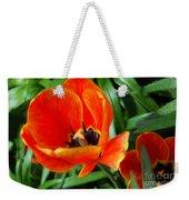 Painterly Red Tulips Weekender Tote Bag
