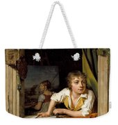 Painting And Music. Portrait Of The Artists Son Weekender Tote Bag