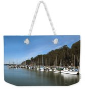 Painting Bay Side Harbor Weekender Tote Bag
