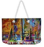 Painting Brushes At A Child's Painting Easel Weekender Tote Bag