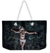 Painting Female Crucifix I Weekender Tote Bag