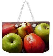 Painting Of Apples And Pears Weekender Tote Bag