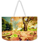 Painting Of Autumn Fall Landscape In Park Weekender Tote Bag