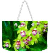 Painting Of Green Orchids Weekender Tote Bag