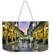 Old City Of Corfu During Dusk Time Weekender Tote Bag