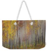 Painting Of Trees In A Forest In Autumn Weekender Tote Bag