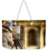 Painting The Colosseum Weekender Tote Bag by Stefano Senise