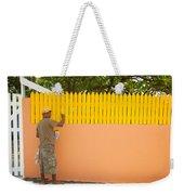 Painting The Fence Weekender Tote Bag