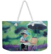 Painting The Lavender Fields Weekender Tote Bag