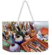 Painting Work Table Weekender Tote Bag