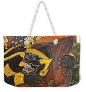 Paintings On Wall Of Middle Court Hall Of Grand Palace Of Thailand Weekender Tote Bag