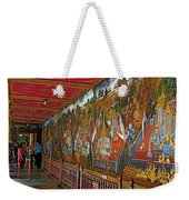 Paintings On Wall Of Middle Court Hallof Grand Palace Of Thailand Weekender Tote Bag