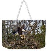 Pair Of Bald Eagles At Their Nest Weekender Tote Bag