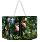 Pair Of Pink Lady Slippers  Weekender Tote Bag