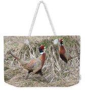 Pair Of Roosters Weekender Tote Bag