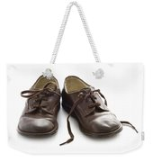 Pair Of Vintage Child Leather Shoes Weekender Tote Bag