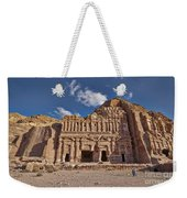 Palace Tomb In Nabataean Ancient Town Petra Weekender Tote Bag